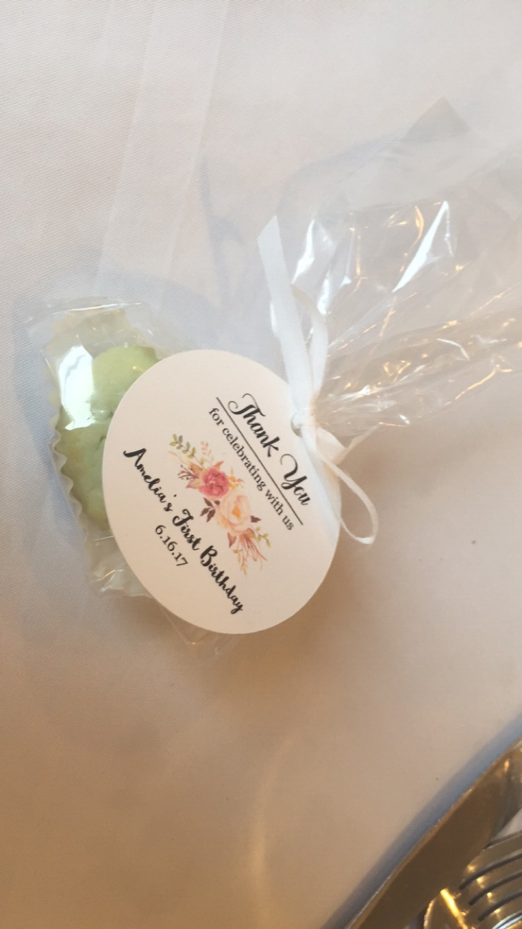 Secret Garden First Birthday Favor Tags