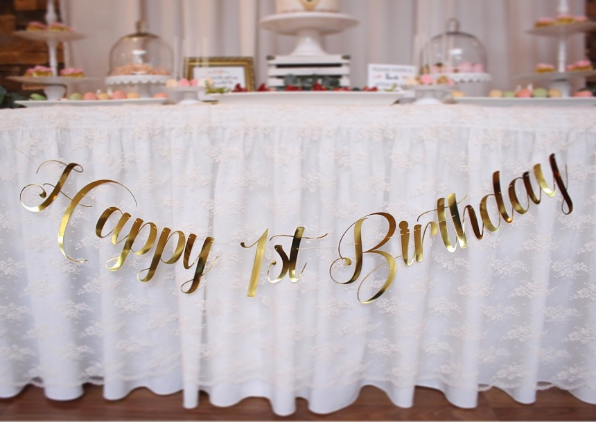 Secret Garden Birthday Banner